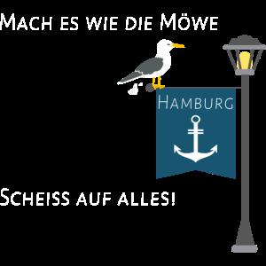 Möwe scheißt auf alles - Hamburg