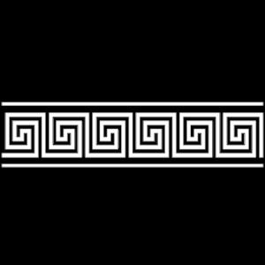greek bordure white