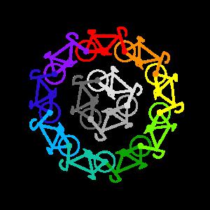 Rennräder Regenbogen Farbenfroh