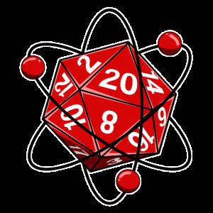 Würfel W20 Elektronen Physik Nerd