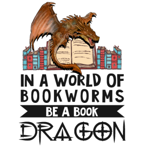 Leseratte Bücherwurm Bücher Drache Buch-Liebhaber