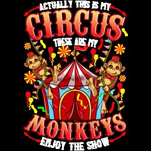 Nicht mein Zirkus nicht meine Affen Spruch Party