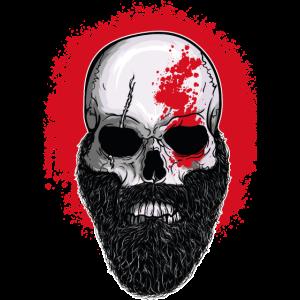 Totenkopf Krieger Gladiator Blut