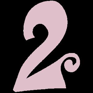 2 Geburtstag Zahl Zwei