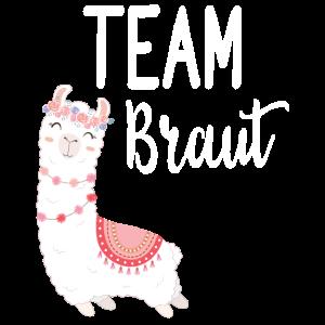 Team Braut Alpaca Lama Alpaka JGA Party Geschenk