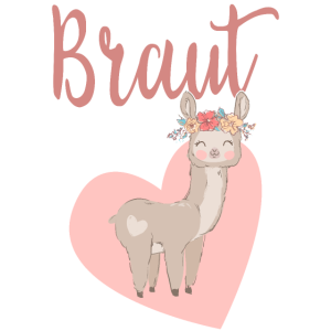Braut Bride to be Alpaka Alpaca Lama JGA Geschenk