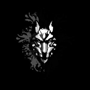 Wolf Natur Mystik Abstrakt Geschenk Design