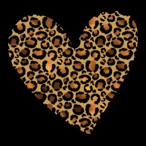 Leopard Cheetah Heart Valentine's Day