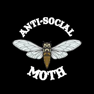 Antisocial Moth Introvert Anti Sozial Geschenk