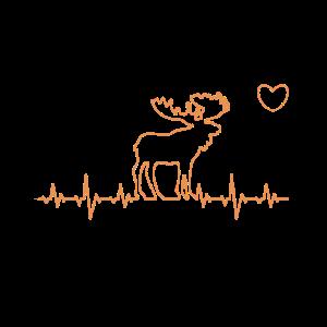 Herzschlag Elch