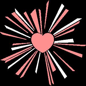 Herzsonnenrosa-Weißentwurf