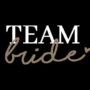Team Bride Weiß