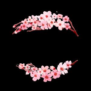 Personalisierbar Kirschblüten Halbkranz