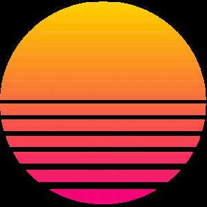 Outrun Retro Sonne
