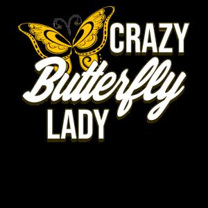 Crazy Butterfly lady