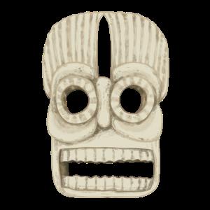 Tibetische Maske aus Stein