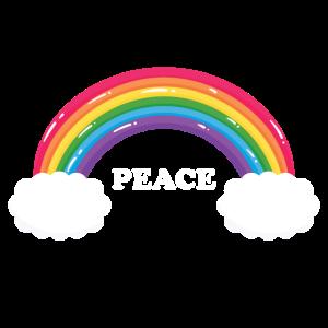 Tolles Kinder & Herren Regenbogen Peace Geschenk