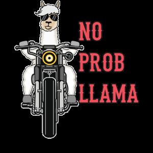 Lama Alpaka Motorrad Geschenk Damen Herren Kinder