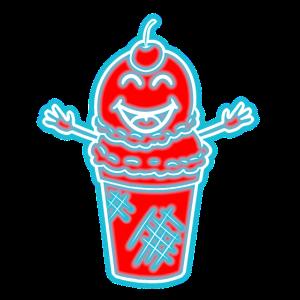 Ice cream Retro Parrty Neon Party Disco 70er Eis