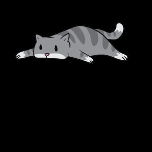 Katze - Faule Katze streckt alle vier Pfoten von s