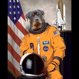 Rottweiler Besitzer Liebhaber Astronaut