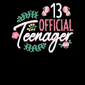 13 Official Teenager -Girls Mädchen 13 Geburtstag