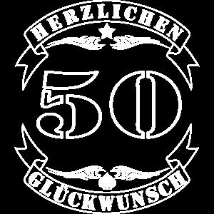 50 Herzlichen Glueckwunsch 50