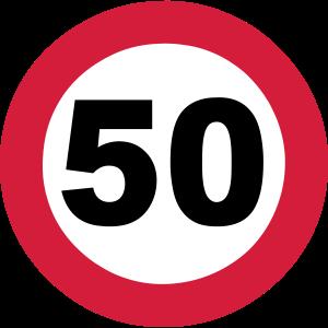 50 Verkehrsschild