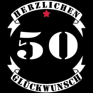 50 Geburtstag Herzlichen Glueckwunsch