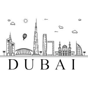 Dubai Skyline City Wahrzeichen Emirat Geschenk