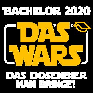 BACHELOR 2020 DAS WARS STUDIUM ABSCHLUSS GESCHENK