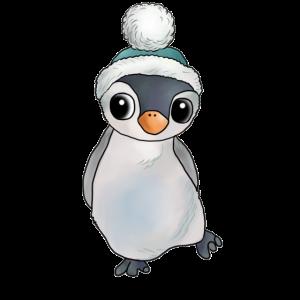 Pinguin mit Muetze