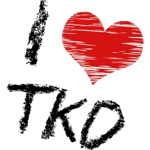 I love tkd letras negras