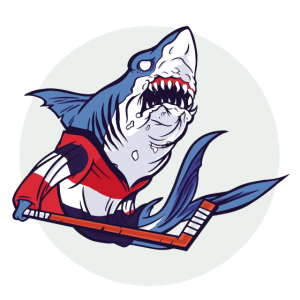 Hai Shark Eishockey Hockey Hockeyspieler Aggressiv