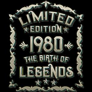 Geboren 1980 40. Geburtstag Geschenk