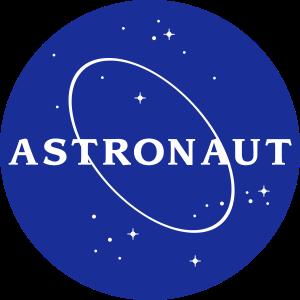 Astronaut NASA Logo Schrift Weltraum Weltall Esa
