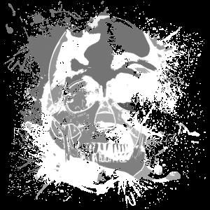 Totenkopf Farbkleckse