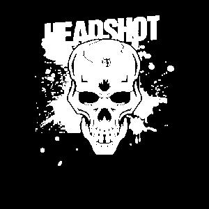 Gaming Shirt Schädel Headshot