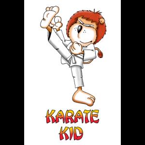 Karate Löwe Poster