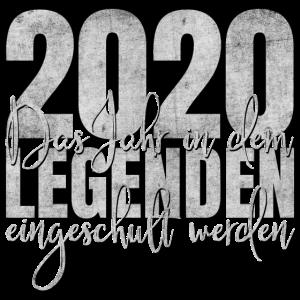 2020 Einschulung Legenden Jahr Schule Schulkind