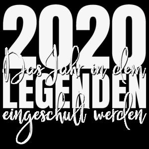 2020 Einschulung Legenden Jahr Schulkind Schule