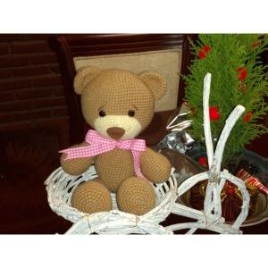 Oso amigurumi de crochet hecho a mano,suave