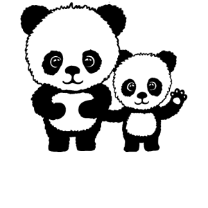 Panda Lustig Geschenk Damen Herren Kinder