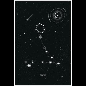 Sternzeichen Fische Sterne Mond Universum Wicca