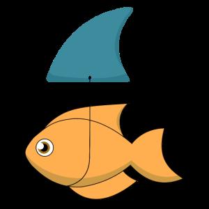 fish mit Haifischflosse