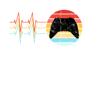 Gamer Zocker Herzschlag EKG Vintage Retro Gaming