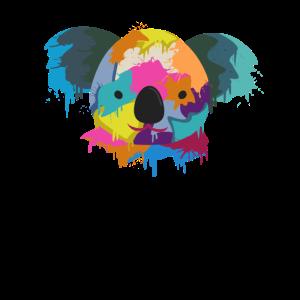 Koala Wasserfarben farbenfroh niedliche Tiere
