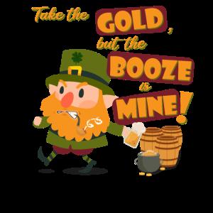 St. Patrick's Day Kobold Gold Alkohol Shirt