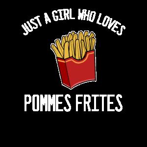 Pommes Frites Foodie-Mädchen