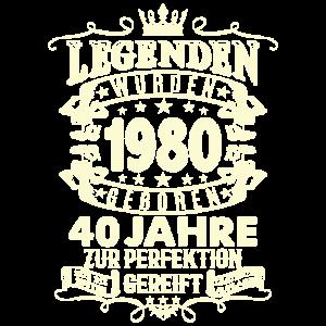 40. Geburtstag 1980 Geschenk Geschenkidee Retro